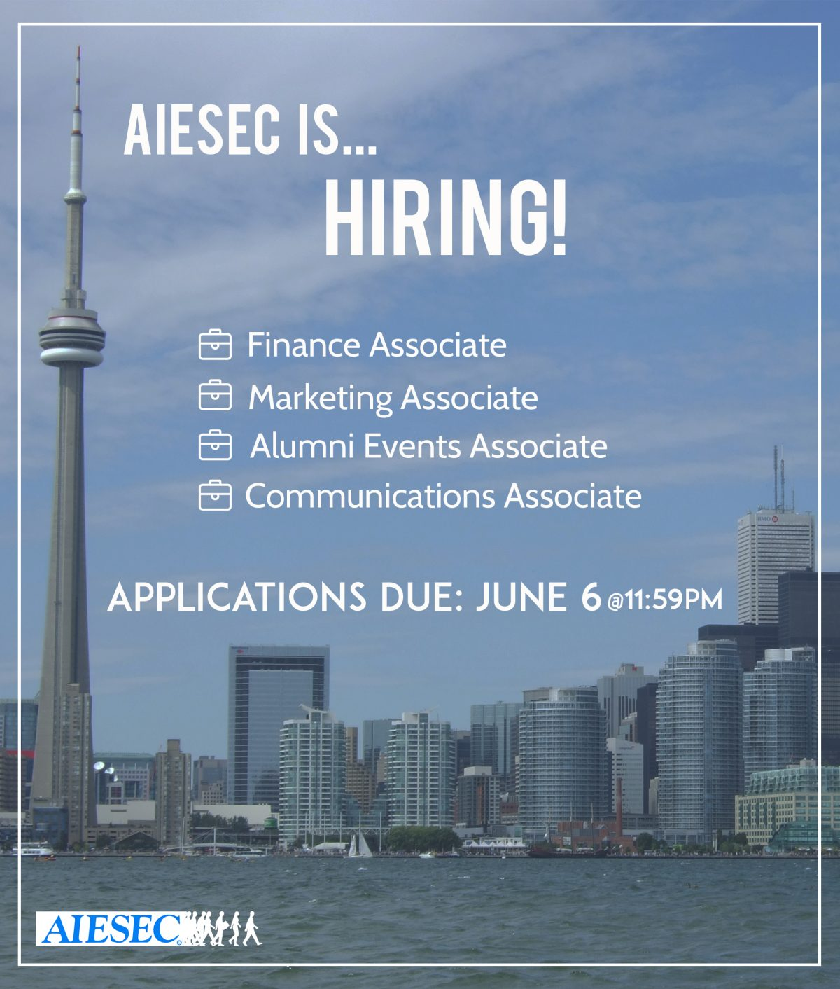 AIESEC RYERSON IS HIRING!